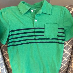 Boys green polo